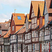 Historic Houses In Germany Print by Heiko Koehrer-Wagner