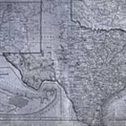 Historic Texas Map Print by Dan Sproul