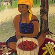 History Behind Caribbean Food Produces Print by Nicole Jean-Louis
