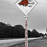 Hog Sign Print by Scott Pellegrin