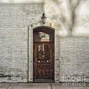 Holiday Door Print by Terry Rowe