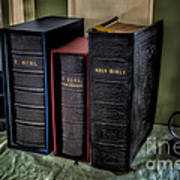 Holy Bibles Print by Adrian Evans