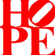 Hope 20130710 Red White Print by Wingsdomain Art and Photography
