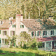 Hopewell Furnace In Pennsylvania Print by Olivier Le Queinec
