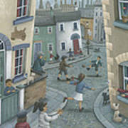 Hopscotch Down The Hill Print by Peter Adderley