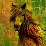 Horse Paintings 001 Print by Catf