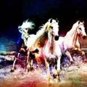 Horse Paintings 002 Print by Catf