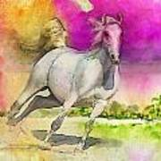 Horse Paintings 007 Print by Catf