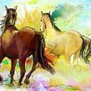 Horse Paintings 009 Print by Catf