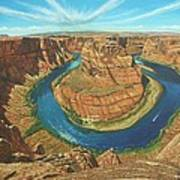 Horseshoe Bend Colorado River Arizona Print by Richard Harpum