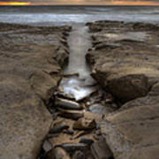 Horseshoes Beach Tidepools Print by Peter Tellone