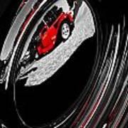 Hot Rod Hubcap Print by motography aka Phil Clark