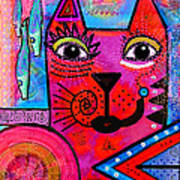 House Of Cats Series - Tally Print by Moon Stumpp