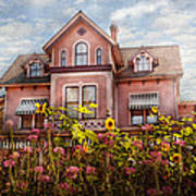 House - Victorian - Summer Cottage  Print by Mike Savad