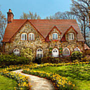 House - Westfield Nj - The Estates  Print by Mike Savad