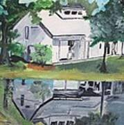 House With Lush Green Surroundings Print by Pallavi Sharma