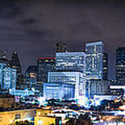 Houston City Lights Print by David Morefield