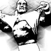 Hulk Hogan By Gbs Print by Anibal Diaz
