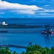 Hunterston Deep Water Terminal Ayrshire Print by Tylie Duff