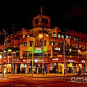 Huntington Beach Downtown Nightside 1 Print by Jim Carrell