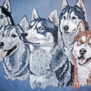 Huskies By J. Belter Garfunkel Print by Sheldon Kralstein