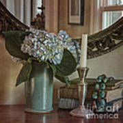 Hydrangea Still-life Print by Terry Rowe