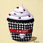 I Love You Cupcake Print by Catherine Holman