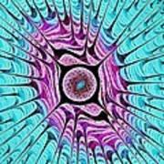 Ice Dragon Eye Print by Anastasiya Malakhova