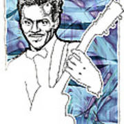 Icons- Chuck Berry Print by Jerrett Dornbusch