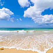 Idyllic Summer Beach Algarve Portugal Print by Amanda Elwell