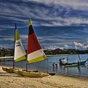 Idyllic Thai Beach Scene Print by David Smith