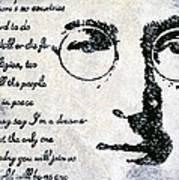 Imagine-john Lennon Print by Bryan Dubreuiel
