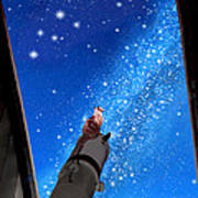 In Awe Of Andromeda And The Milky Way Print by Kathleen Horner