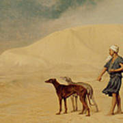 In The Desert Print by Jean Leon Gerome