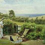 In The Garden Print by Thomas James Lloyd
