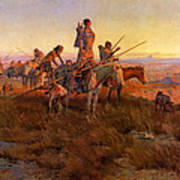 In The Wake Of The Buffalo Hunters Print by Charles Russell