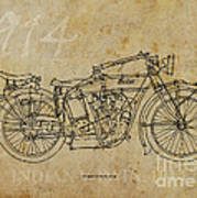 Indian V-twin 1914 Print by Pablo Franchi
