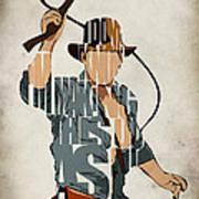 Indiana Jones - Harrison Ford Print by Ayse Deniz