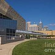 Indiana State Museum And Indianapolis Skyline Print by David Haskett