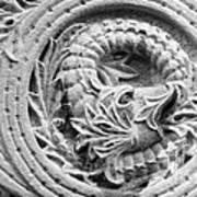 Indiana University Limestone Detail Print by University Icons