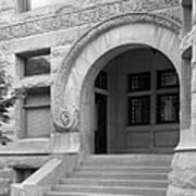 Indiana University Maxwell Hall Entrance Print by University Icons
