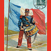 Infantry Of The Line Drummer With Fgb Border Print by A Morddel
