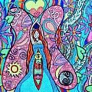 Inner Goddess Print by Kim Larocque