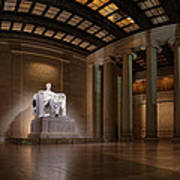 Inside The Lincoln Memorial Print by Metro DC Photography