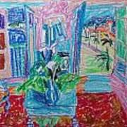Interior A La Nice Print by Esther Newman-Cohen