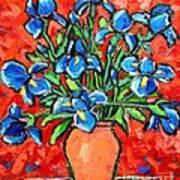Iris Bouquet Print by Ana Maria Edulescu