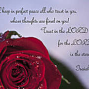 Isaiah 26 3 4 Print by Inspirational  Designs