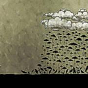 It's Raining Umbrellas Print by Gianfranco Weiss