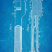Jack Johnson Wrench Patent Art 1922 Blueprint Print by Ian Monk