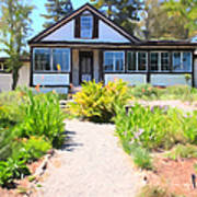 Jack London Countryside Cottage And Garden 5d24565 Long Print by Wingsdomain Art and Photography